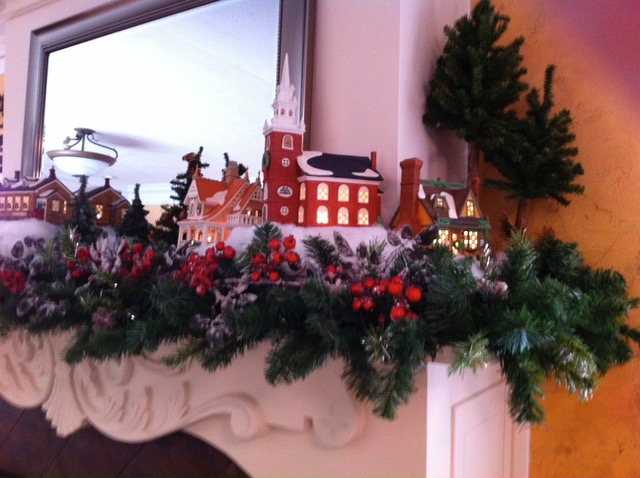 Christmas Mantels from Days Gone By